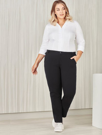 Womens Comfort Waist Straight Leg Pant
