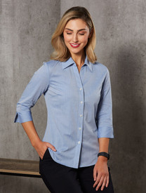 Women's Fine Chambray 3/4 Sleeve Shirt
