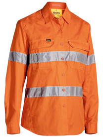 Women's Hi Vis Taped X-Airflow Orange Ripstop Shirt