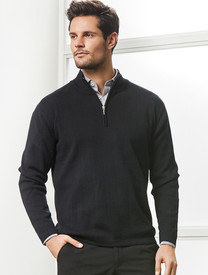Biz Collection Needle Out Mens 1/2 Zip Pullover