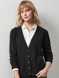 Button Thru Woolmix Cardigan with Pockets