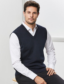 Biz Collection Woolmix V-Neck Mens Vest