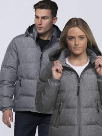 Invert Grey Melange Puffa Jacket