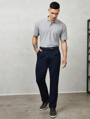 Mens Flexi Waist Trousers