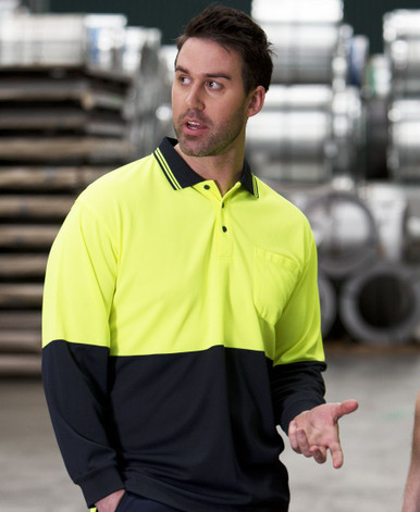 Traditional L/S Hi Vis Polo