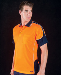 Contrast Piping Hi Vis Polo