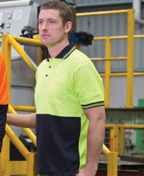 Cotton Back Hi Vis S/S Polo