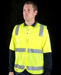 Hi Vis D/N Zippered Vest
