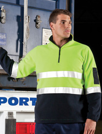 1/2 Zip D/N Hi Vis Polar Fleece