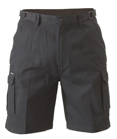 Bisley Black 8 Pocket Mens Cargo Short