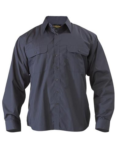 Bisley Mens Midnight Permanent Press Short Sleeve Shirt