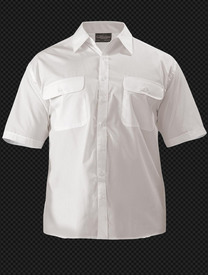 Bisley Mens White Permanent Press Short Sleeve Shirt