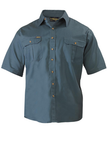 Bisley Original Cotton Bottle Mens Short Sleeve Drill Shirt