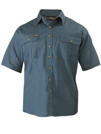Bisley Original Cotton Bottle Mens Short Sleeve Drill Shirt