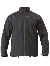 Bisley Mens Charcoal Soft Shell Jacket