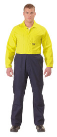 Bisley 2 Tone Hi Vis Coveralls Regular Weight
