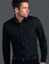 John Kevin Mens L/S Poplin Shirt - No Returns