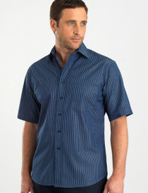 John Kevin Mens S/S Bold Stripe Shirt - No Returns
