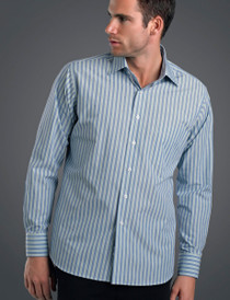 John Kevin Mens L/S Fashion Stripe Shirt
