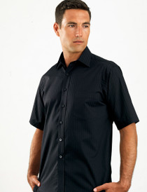 John Kevin Mens S/S Self Stripe Shirt
