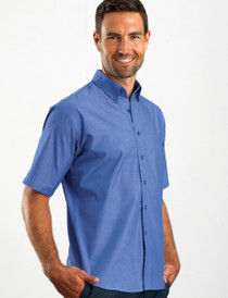 John Kevin Mens S/S Chambray Shirt
