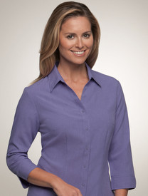 City Collection Ezylin 3/4 Sleeve Shirt Lilac