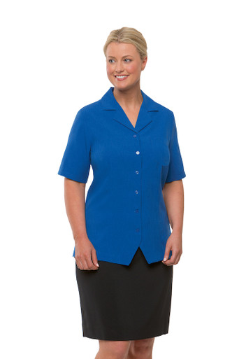 City Collection Ezylin Royal Short Sleeve Overblouse