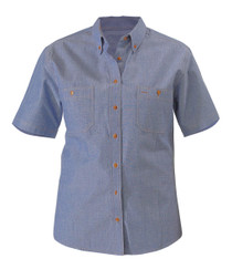 Chambray Ladies S/S Shirt