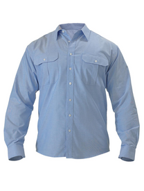 Bisley Mens Oxford Long Sleeve Shirt