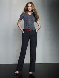 Adjustable Waist Wool Blend Pant
