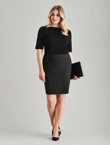 Chevron Wool Blend Skirt