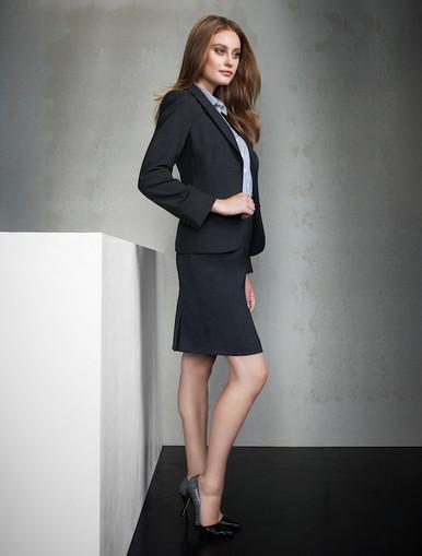 Multi Pleat Wool Blend Skirt