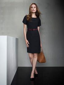 S/S Wool Blend Shift Dress