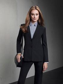 Longerline Wool Blend Jacket