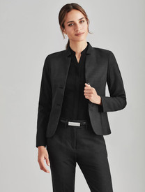 Wool Blend Jacket with Reverse Lapel
