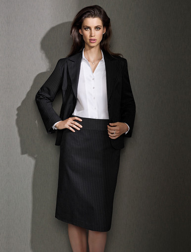 Relaxed Fit Pinstripe Skirt