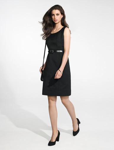 Sleeveless Pinstripe Dress