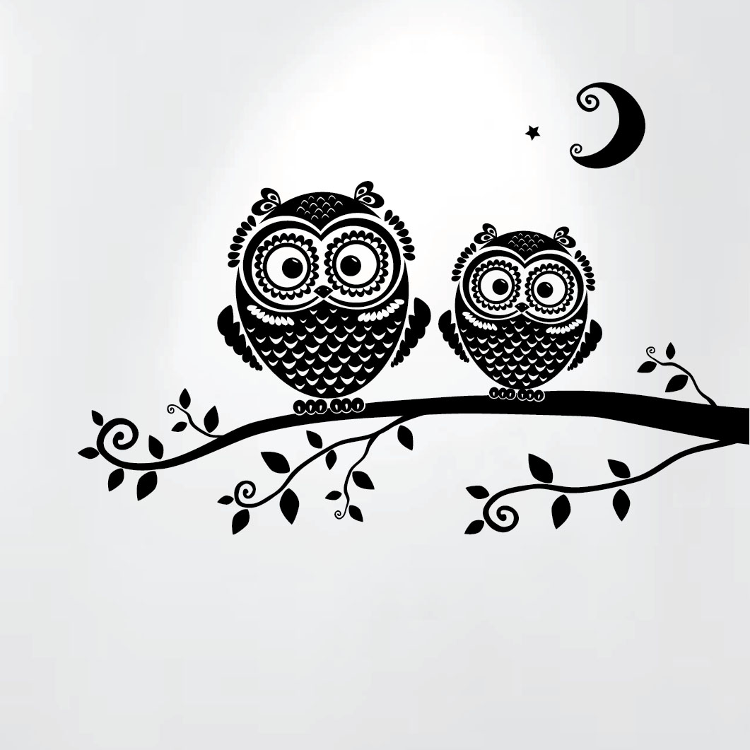Nouvelles Images HOST1912 Tree Owl Kids Wall Decals