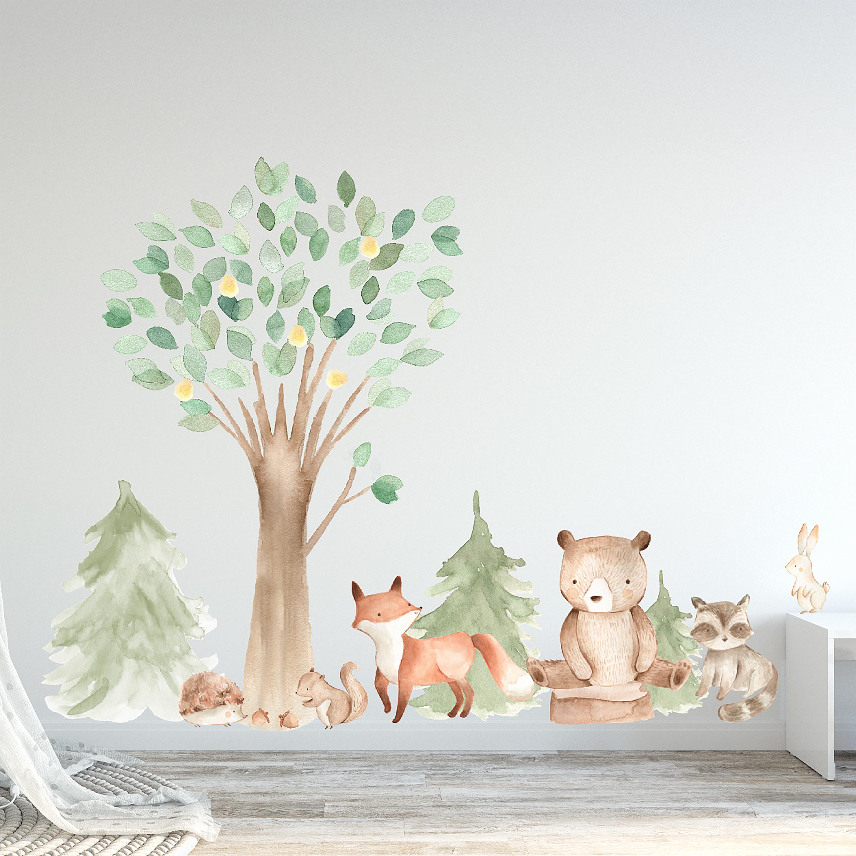 3061-woodland-water-color-tree-and-animal-set-wall-decals-bear-fox-racoon-rabbit-nursery-set.jpg