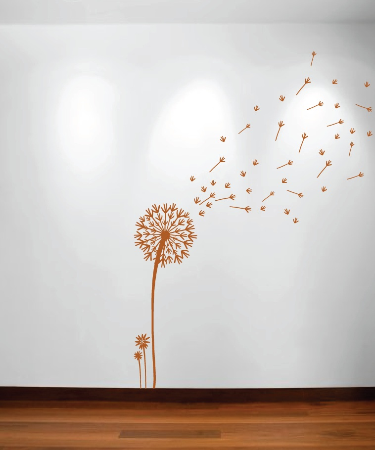 Dandelion And Seeds Blowing In The Wind Wall Decal 1156