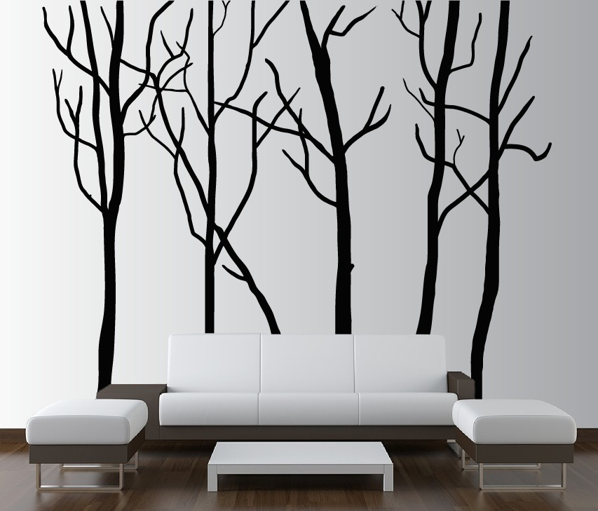 Large Wall Tree Decal Forest Kids Vinyl Sticker Removable