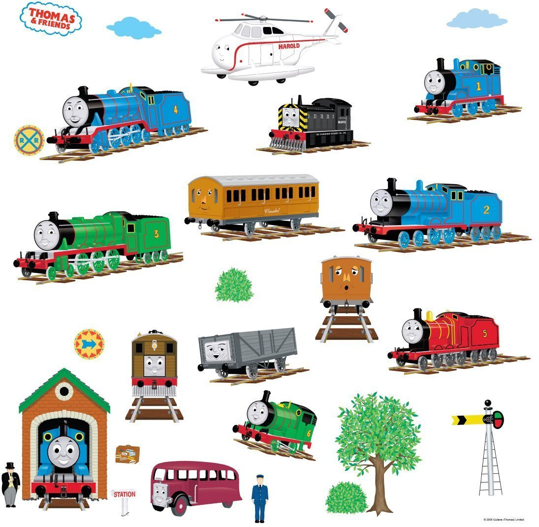 How To Apply Vinyl Wall Stickers Thomas The Tank Engine And Friends Peel And Stick Wall