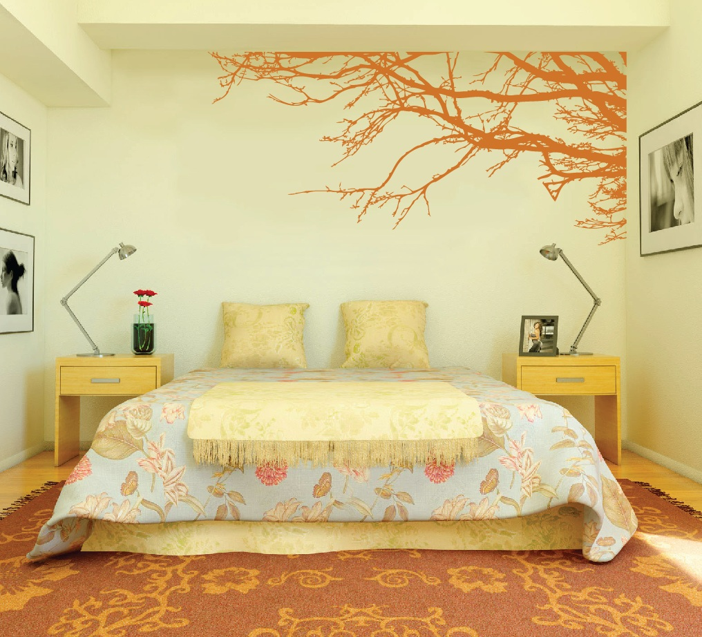 Bedroom Wall Decorating Ideas: Large Wall Tree Nursery Decal Oak Branches #1130