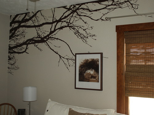 Nursery wall decals wall decor ideas for Large tree template for wall