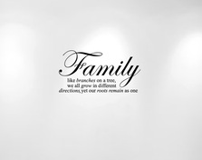 Family Tree Wall Decal Quote #1134