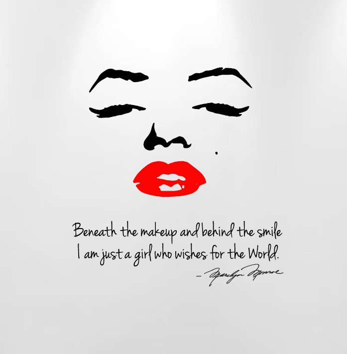 Marilyn Monroe Beneath The Makeup And Behind The Smile Quote Wall