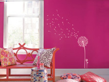 Dandelion and Seeds Blowing in the Wind Wall Decal #1156