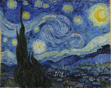 Vincent Van Gogh - The Starry Night Poster Canvas Reproduction Print #3006