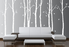 Large Wall Birch Tree Nursery Decal Forest Kids Vinyl Sticker Leaves #1263