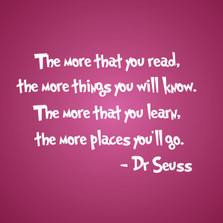 The more that you read... Dr. Seuss Quote Wall Decal Nursery #1211